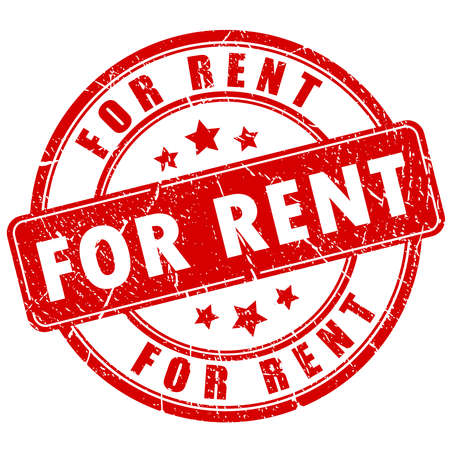 housing: For rent rubber stamp