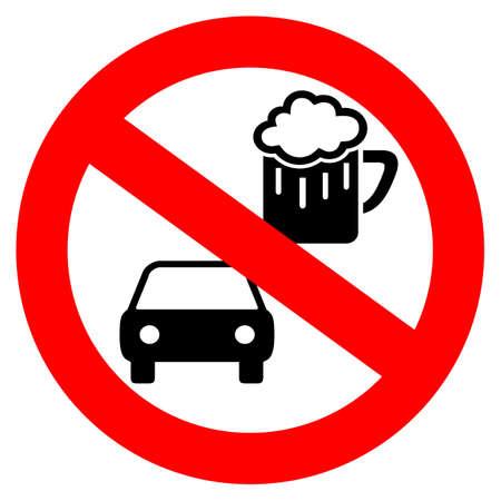 Geen drinken en rijden vectorsymbool