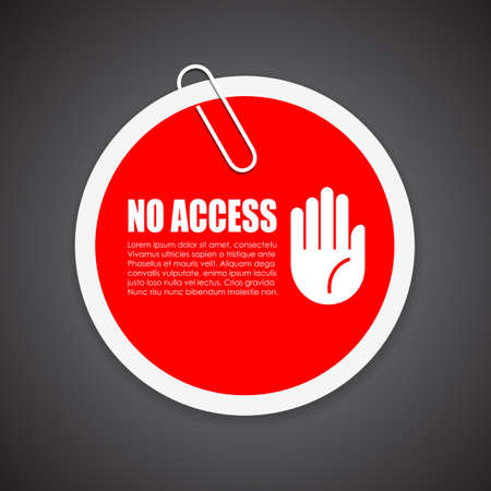 no access: No access security sticker Illustration