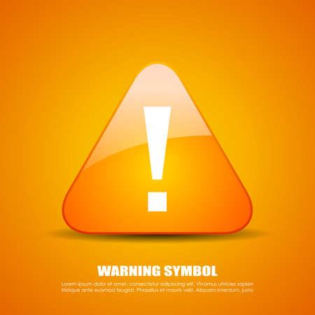 Exclamation danger icon Stock Vector - 51297054