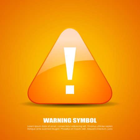 icono de peligro de exclamación Ilustración de vector