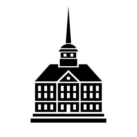 spire: Gothic building icon Illustration