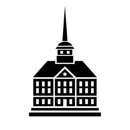 Gothic building icon Illustration