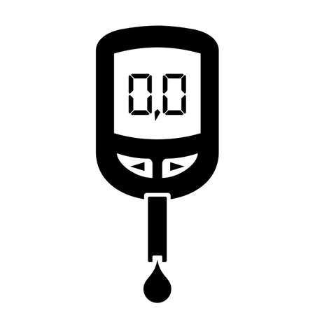 glucose: Glucose meter icon Illustration