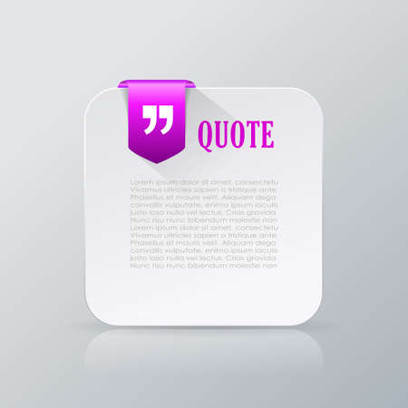 card: Quote text card Illustration