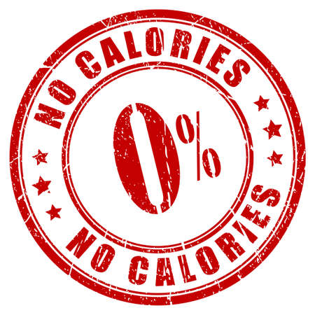 less: No calories rubber stamp Illustration