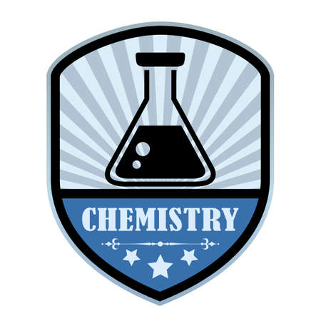 retort: Chemistry retro label Illustration