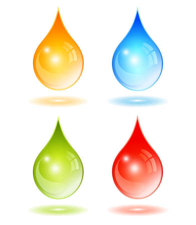 mineral oil: Drop vector icon