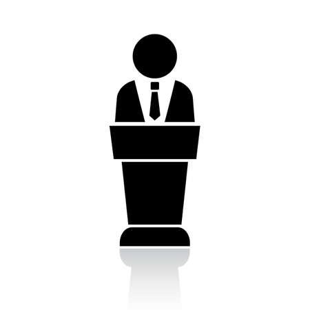 Głośnik podium ikona Ilustracje wektorowe