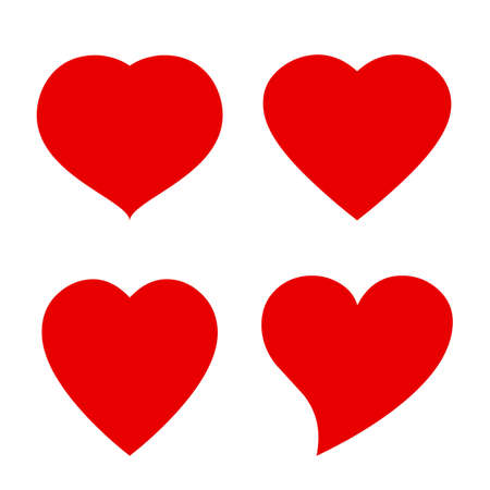 romantic heart: Vector heart shape icon