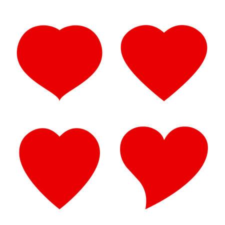 rojo: Vector icono de la forma del corazón Vectores