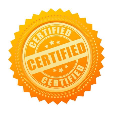 Gecertificeerde gouden certificaat pictogram Vector Illustratie