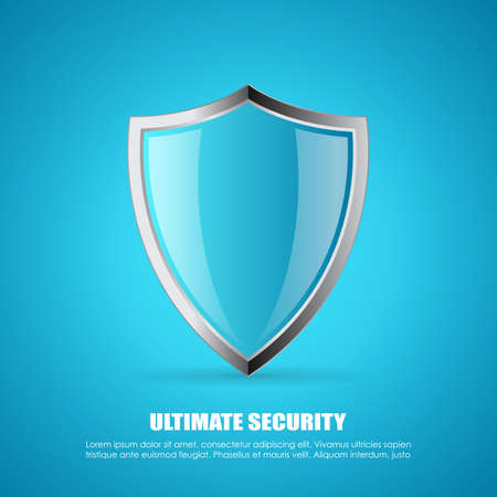 Secure shield vector poster