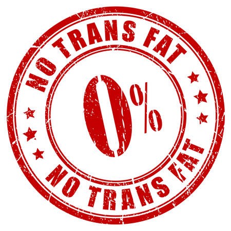 No trans fat rubber stamp