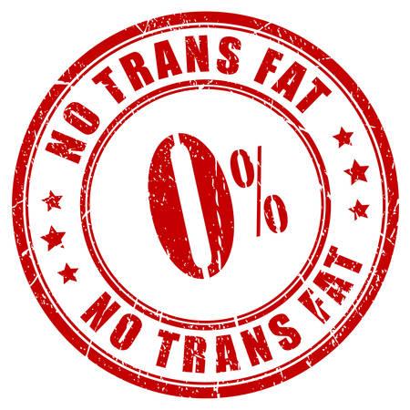 Keine Trans-Fettsäuren Stempel