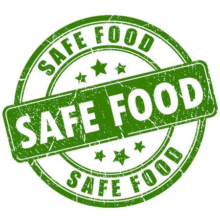 food poison: Safe food rubber stamp Illustration