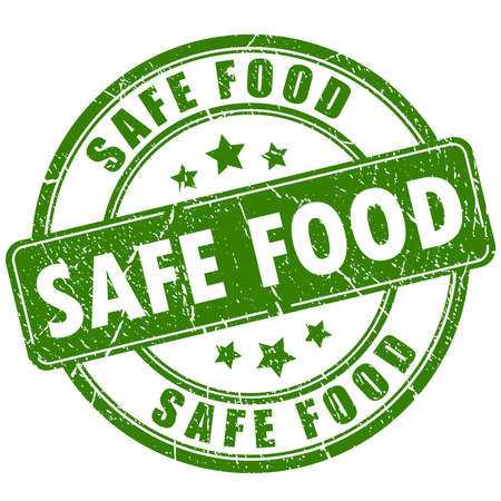 toxic product: Safe food rubber stamp Illustration