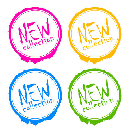 Nuevo sello de colección Ilustración de vector