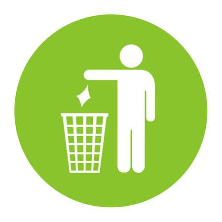 botar basura: No tirar basura icono del vector Vectores