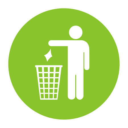 No littering vector icon Illustration