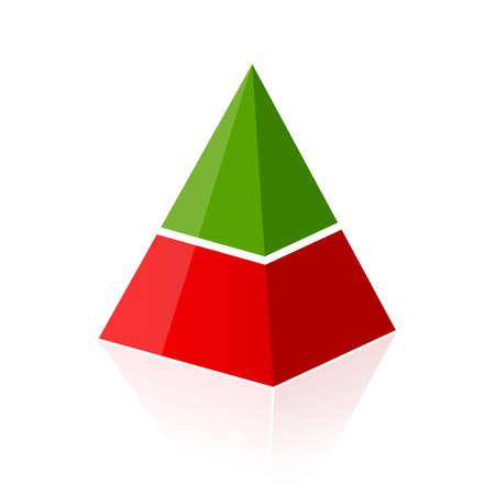pyramidal: Two parts layered pyramid Illustration