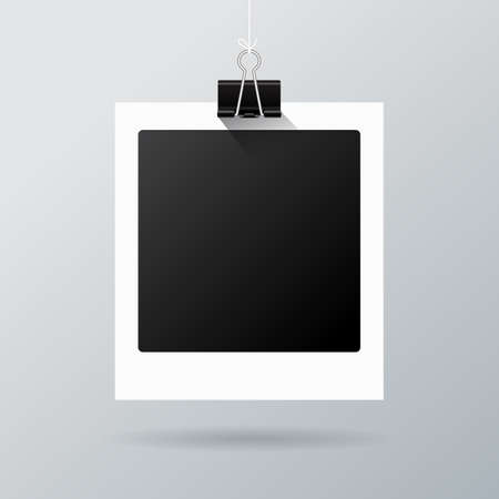 polariod frame: Hanging photo frame Illustration