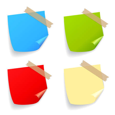 postit note: Vector stickers set