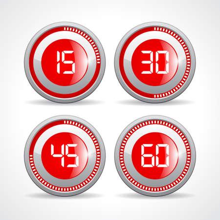 sec: Timers set 15 30 45 60 minutes Illustration