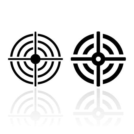 Sniper Schießen Ziel Symbol Vektorgrafik