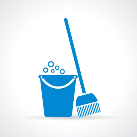 wet cleaning: Mopping icon