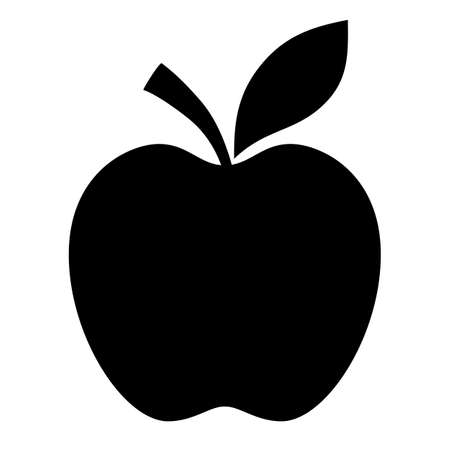 Apple black silhouette