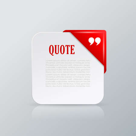 corner ribbon: Quote text card with corner ribbon