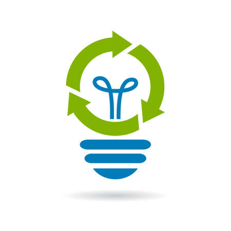 Abstract technology bulb logo Ilustrace