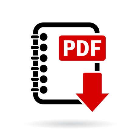 pdf: Pdf file download icon Illustration