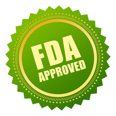 fda: Fda approved icon Illustration