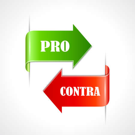 argumentation: Pro et contra ribbons