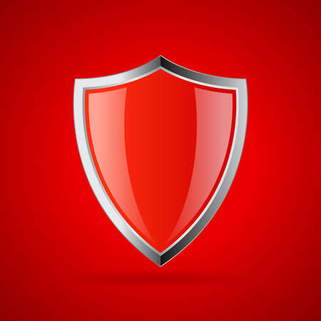 guard  guardian: Red secure shield icon