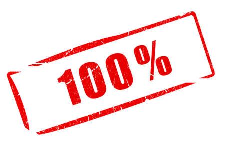 100 procent stamp Stockfoto