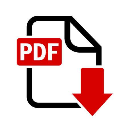 Stažení Tlačítko pdf soubor Ilustrace