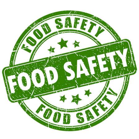 safety sign: Food safety rubber stamp Illustration