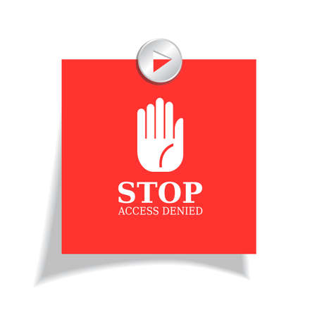 entrance is forbidden: Stop red sticker Illustration