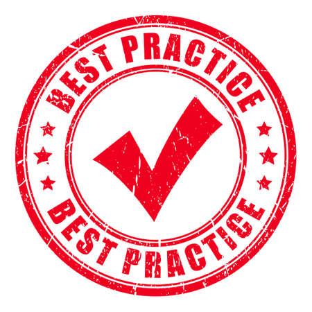 Nejlepší praxe razítko