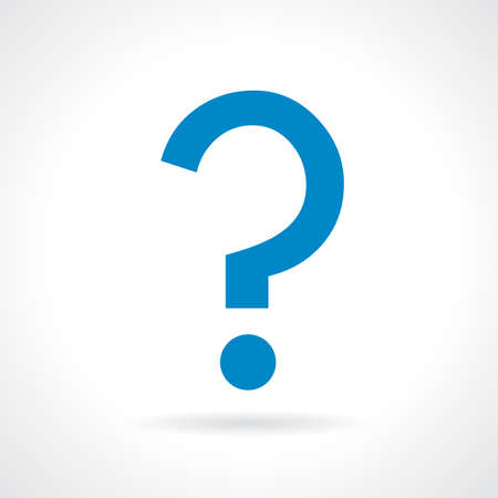 questionary: Question mark icon Illustration