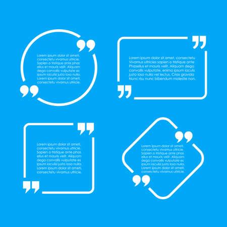 Text quote frames set Vektorové ilustrace