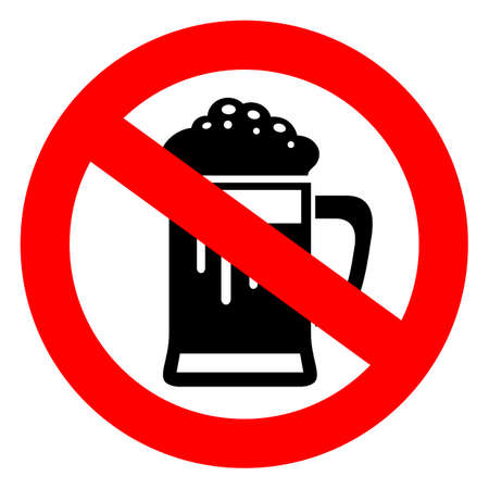 non alcoholic beer: Do not drink beer sign