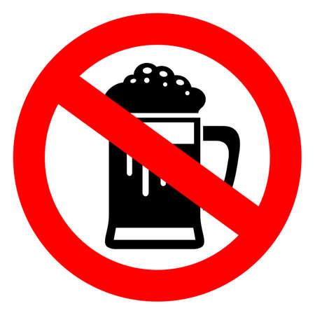 Nie pije piwa znak Ilustracje wektorowe