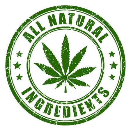 Natural hemp rubber stamp