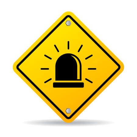Alarm warning sign