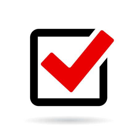check icon: Red check box icon