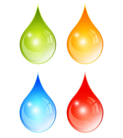 waterdrop: Color water drops